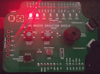 The Learning Lab Kit on a Shield for Arduino