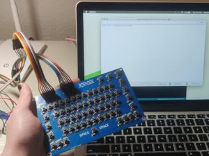 64-Key Prototyping Keyboard Matrix for Arduino