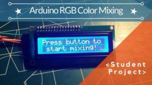 ARDUINO RGB MIXING GUI