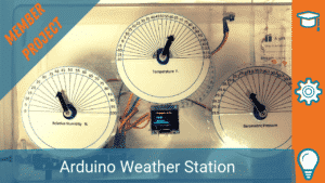 WEATHER STATION WITH DIGITAL AND ANALOG DISPLAY