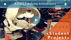 ARDUINO ANIMATRONIC SKELETON CO-PILOT B.O.N.E.S.