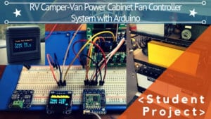 RV CAMPER-VAN POWER CABINET FAN CONTROLLER SYSTEM WITH ARDUINO