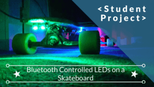 Bluetooth controlled leds on a skateboard