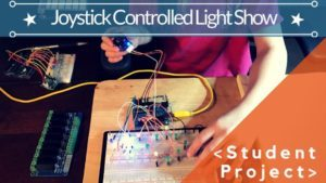 Light up the night with joystick controlled light show