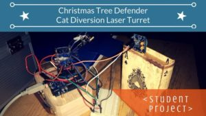 Christmas tree defender cat diversion laser turret with arduino